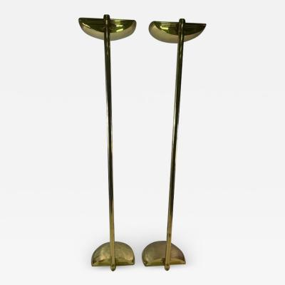 Karl Springer EXCEPTIONAL TALL PAIR OF MODERN FLOOR LAMPS