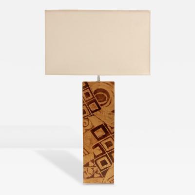 Karl Springer Exceptional Table Lamp by Karl Springer