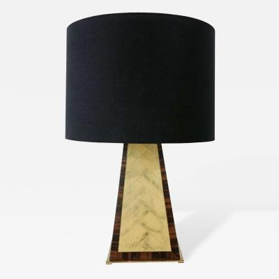 Karl Springer Faux Painted Table Lamp in the Manner of Karl Springer