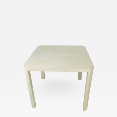 Karl Springer Goatskin Game Table with Round Corners in the Style of Karl Springer