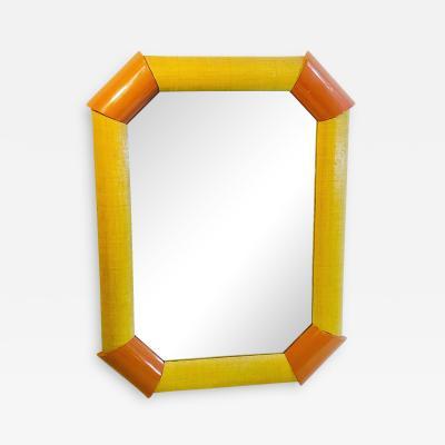 Karl Springer Hexagonal Mirror in the Style of Karl Springer