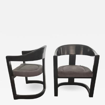 Karl Springer KARL SPRINGER PAIR OF ONASSIS CHAIRS