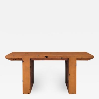 Karl Springer Karl Springer Altar Console Table in Antique Copper 1980s