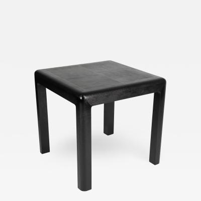 Karl Springer Karl Springer Angular Leg games table in lizard embossed leather 1987