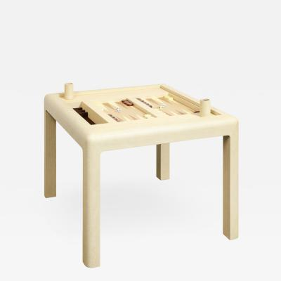 Karl Springer Karl Springer Backgammon Table with Cover in Embossed Lizard 1990 Signed