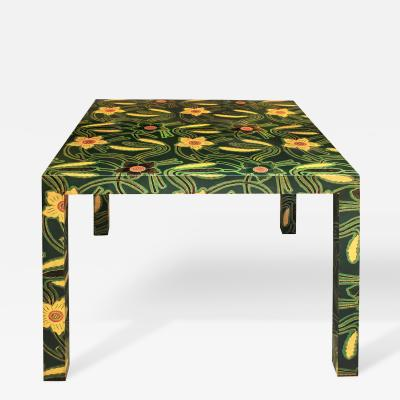 Karl Springer Karl Springer Batik Game Table 1970s