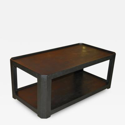 Karl Springer Karl Springer Black Textured Coffee Table