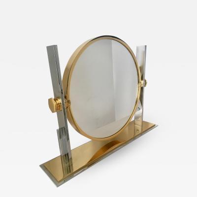 Karl Springer Karl Springer Brass and Chrome Vanity Mirror