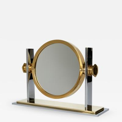 Karl Springer Karl Springer Brass and Nickel Vanity Mirror
