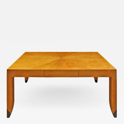 Karl Springer Karl Springer Bristol Desk in Birdseye Maple ca 1985 signed