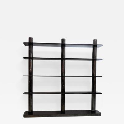Karl Springer Karl Springer Bronze and Glass Bookcase Wall Unit 1975