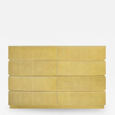 Karl Springer Karl Springer Chest of Drawers with Artisan Shagreen Lacquer 1970s