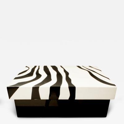 Karl Springer Karl Springer Chic Zebra Lacquer Box 1970s