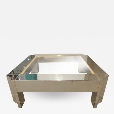Karl Springer Karl Springer Exceptional Arte Moderne Coffee Table 1970s