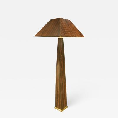 Karl Springer Karl Springer Exceptional JMF Floor Lamp in Macassar Ebony 1970s