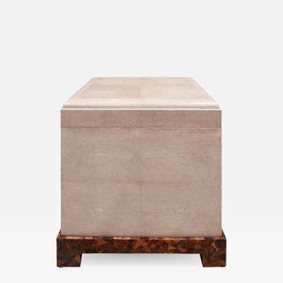 Karl Springer Karl Springer Exceptional Kyoto Box End Table in Shagreen 1980s