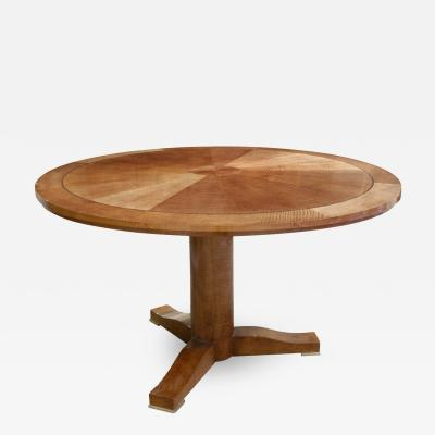 Karl Springer Karl Springer Exceptional Regency Table in Pie Cut Anigre 1980s