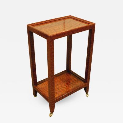 Karl Springer Karl Springer Exceptionally Crafted Telephone Table in Cobra Skin 2002