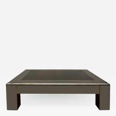 Karl Springer Karl Springer Gunmetal Brass Coffee Table