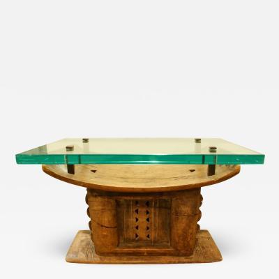 Karl Springer Karl Springer Hand Carved African Coffee Table 1970s