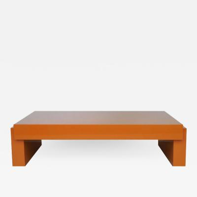 Karl Springer Karl Springer Lacquer Airport Coffee Table 1980