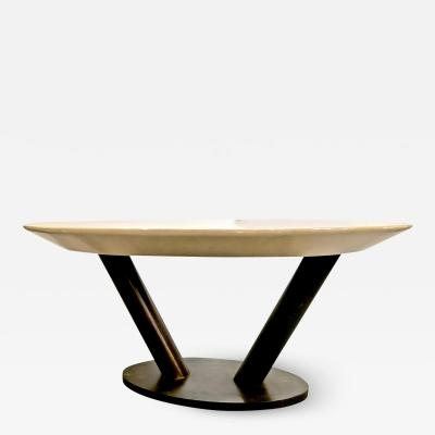Karl Springer Karl Springer Lacquered Goatskin Table
