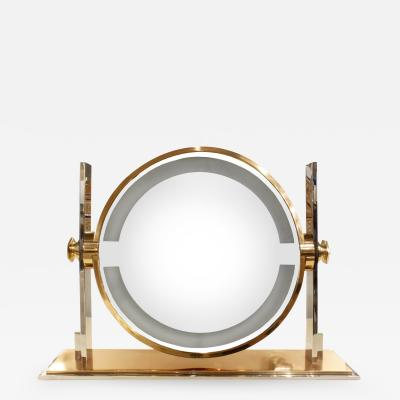 Karl Springer Karl Springer Large Illuminating Vanity Mirror 1980s