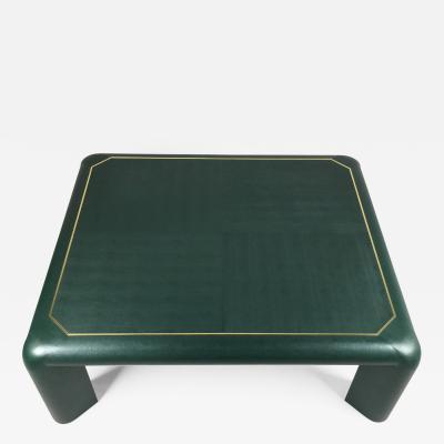 Karl Springer Karl Springer Leather Coffee Table