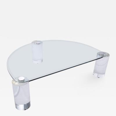 Karl Springer Karl Springer Lucite Sculpture Leg Coffee Table