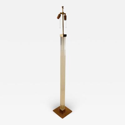 Karl Springer Karl Springer Lucite and Brass Floor Lamp