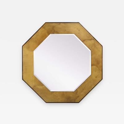 Karl Springer Karl Springer Octagonal Mirror in Parchment circa 1970s