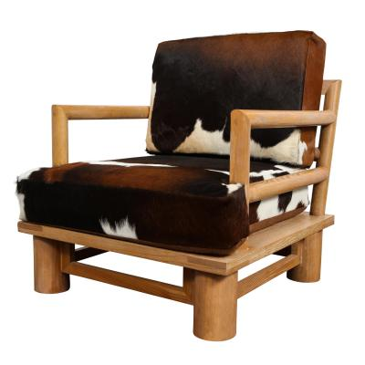 Karl Springer Karl Springer Pair of Dowelwood Armchairs and Ottomans 1980s