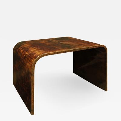 Karl Springer Karl Springer Petit Coffee Table In Lacquered Goatskin 1970s
