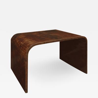 Karl Springer Karl Springer Petit Coffee Table In Lacquered Goatskin 1970s