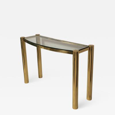 Karl Springer Karl Springer Polished Bronze Console Table
