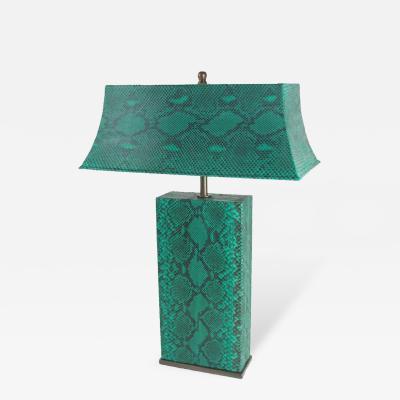 Karl Springer Karl Springer Python Table Lamp USA 1970s