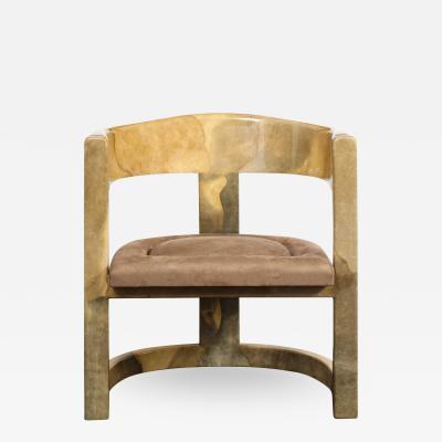 Karl Springer Karl Springer Rare Onassis Lounge Chair1970s