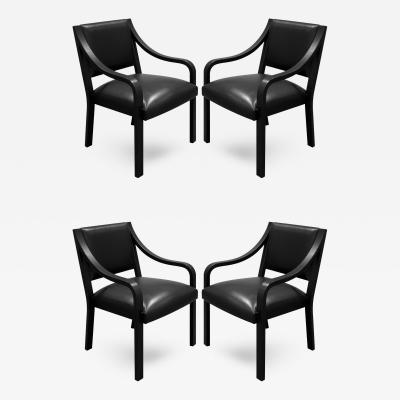 Karl Springer Karl Springer Regency Arm Chairs 1980s