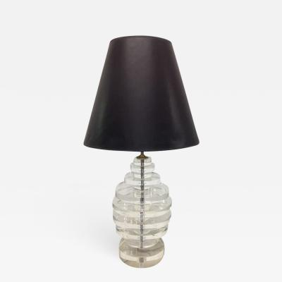 Karl Springer Karl Springer Round Stacked Lucite Lamp