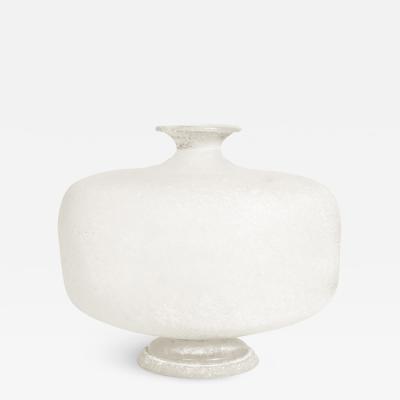 Karl Springer Karl Springer Scavo Glass Vase 1980s Signed