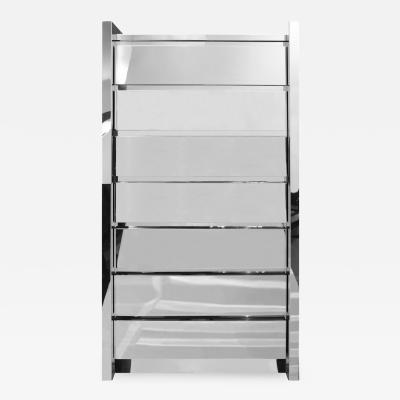 Karl Springer Karl Springer Semanier Chest of Drawers in Polished Stainless Steel 1980s
