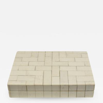 Karl Springer Karl Springer Small Artisan Box in Bone 1970s
