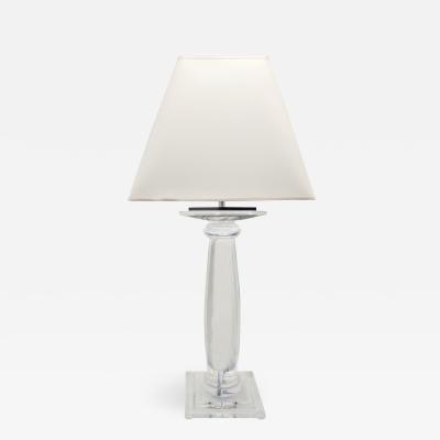 Karl Springer Karl Springer Solid Lucite Greek Column Table Lamp 1980s