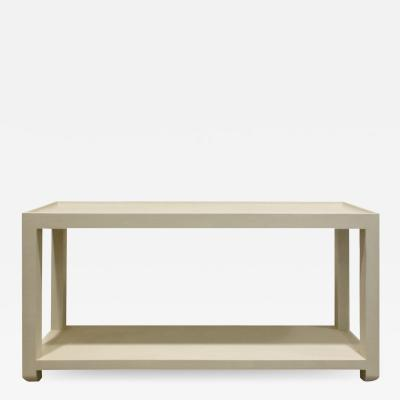 Karl Springer Karl Springer Tray Top Console Table 1970s