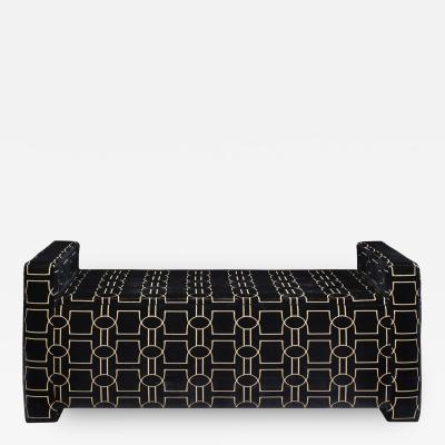 Karl Springer Karl Springer Upholstered Bench with Storage