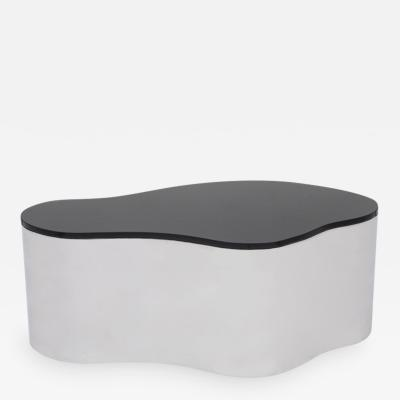 Karl Springer LTD Free Form Low Table B with Black Top