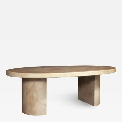 Karl Springer LTD Karl Springer Goatskin Dining Table