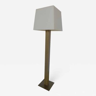 Karl Springer LTD Karl Springer Linen and Brass Floor Lamp