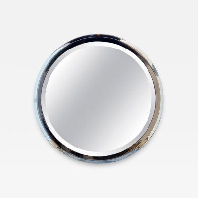 Karl Springer LTD Round Polished Chrome and Gun Metal Finished Mirror
