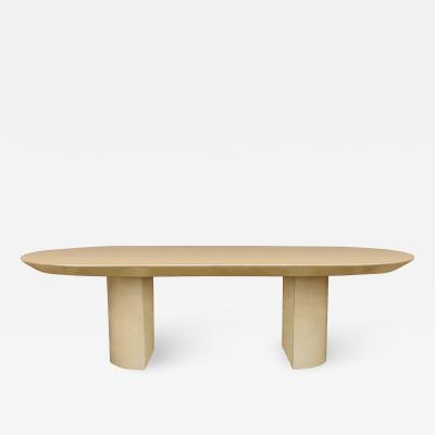 Karl Springer Lacquered Goat Skin Dining Table